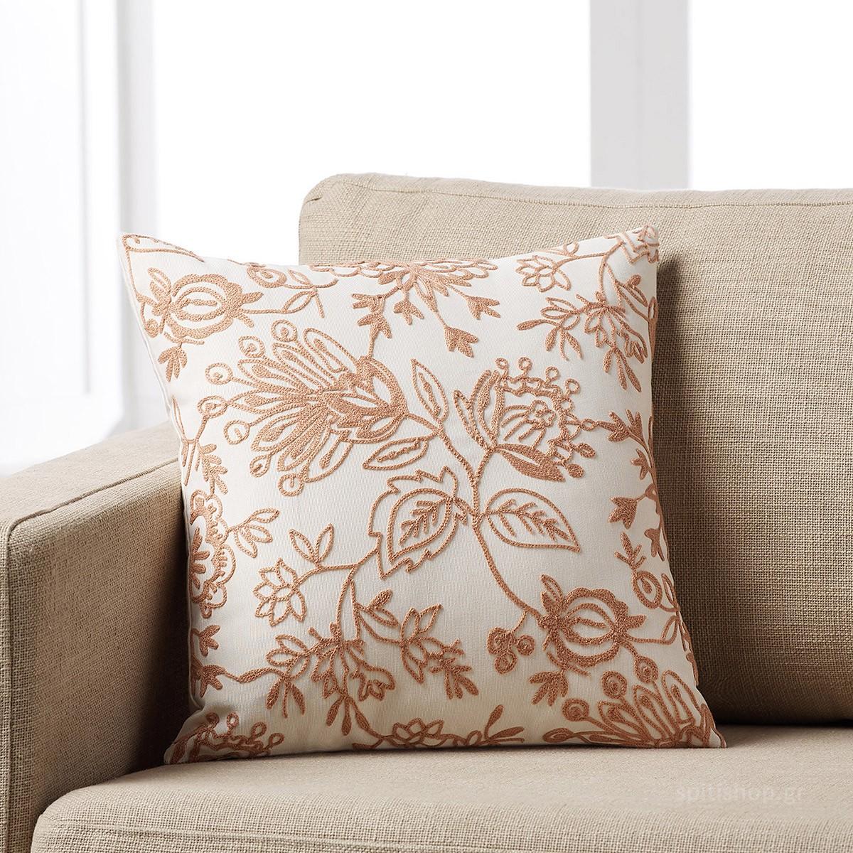 Διακοσμητική Μαξιλαροθήκη Gofis Home Maron Apple 258/25 home   σαλόνι   διακοσμητικά μαξιλάρια