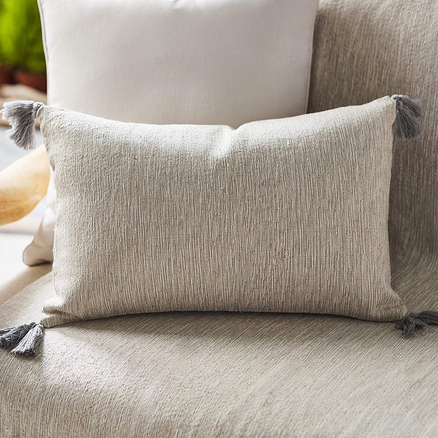Διακοσμητική Μαξιλαροθήκη (30×45) Gofis Home Trace Grey 467/15