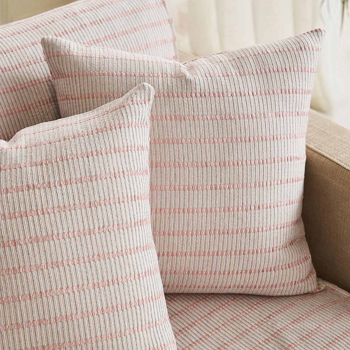 Διακοσμητική Μαξιλαροθήκη Gofis Home Solitaire Pink 476/17