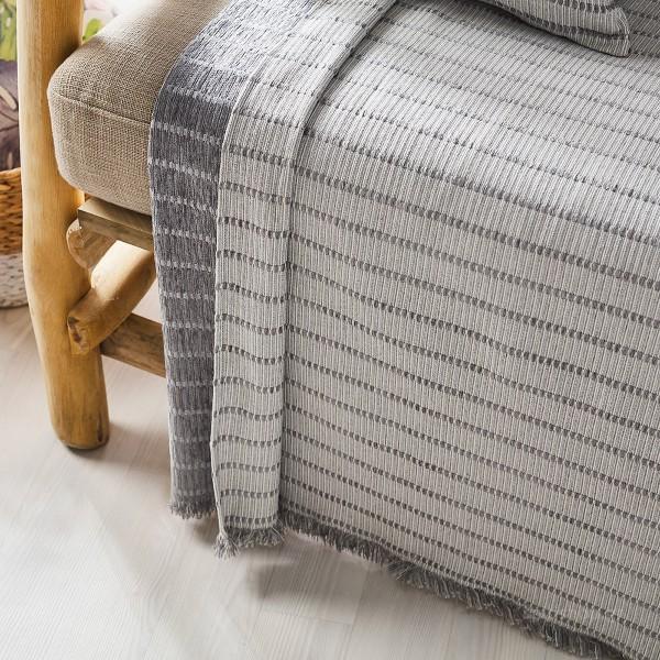 Ριχτάρι Πολυθρόνας (180x180) Gofis Home Solitaire Grey 476/15
