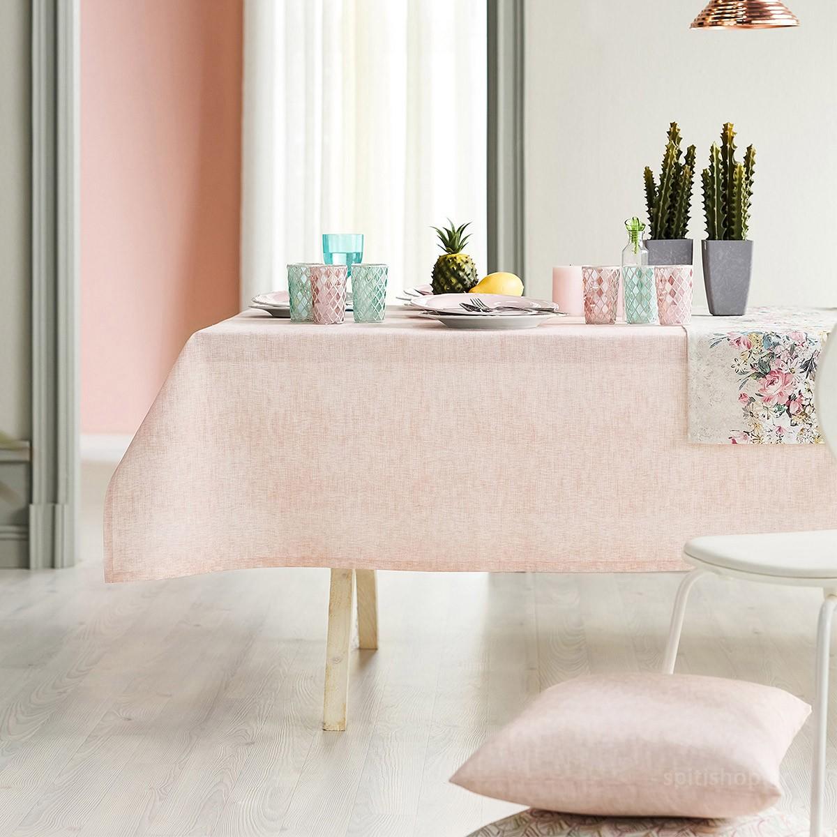 Τραπεζομάντηλο Ροτόντα Gofis Home Mood Pink 263/17