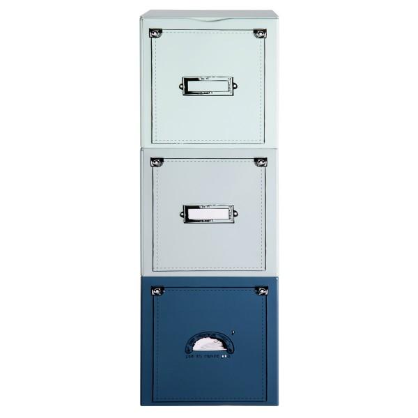 Κουτί Αποθήκευσης Τριπλό (10x10x10) Marva Tiroirs 038400