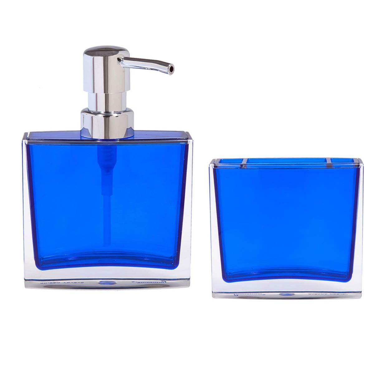 Αξεσουάρ Μπάνιου (Σετ 2τμχ) Marva Transparent Blue 508003