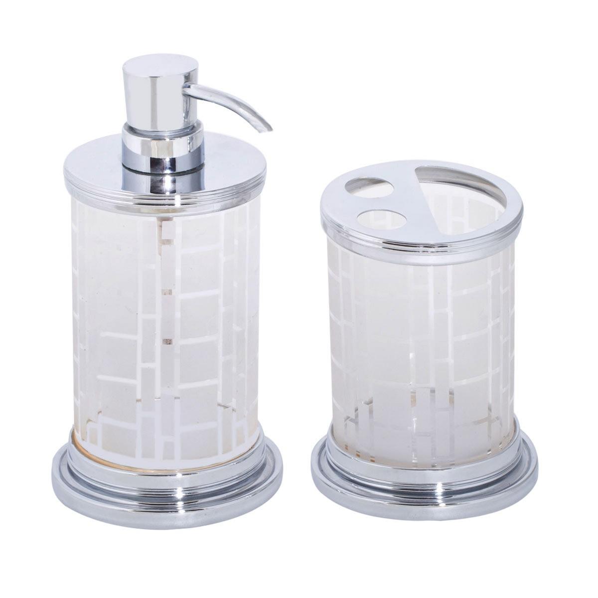 Αξεσουάρ Μπάνιου (Σετ 2τμχ) Marva Mat Glass 561005
