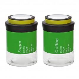 Δοχείο Ζάχαρης + Καφέ (Σετ) Marva Country Vision Green 717006