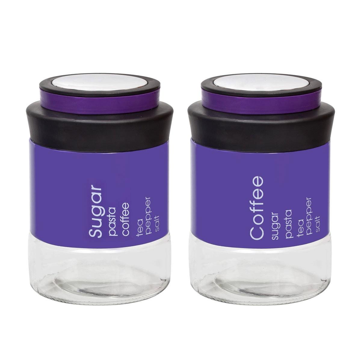 Δοχείο Ζάχαρης + Καφέ (Σετ) Marva Country Vision Purple 717007 88149