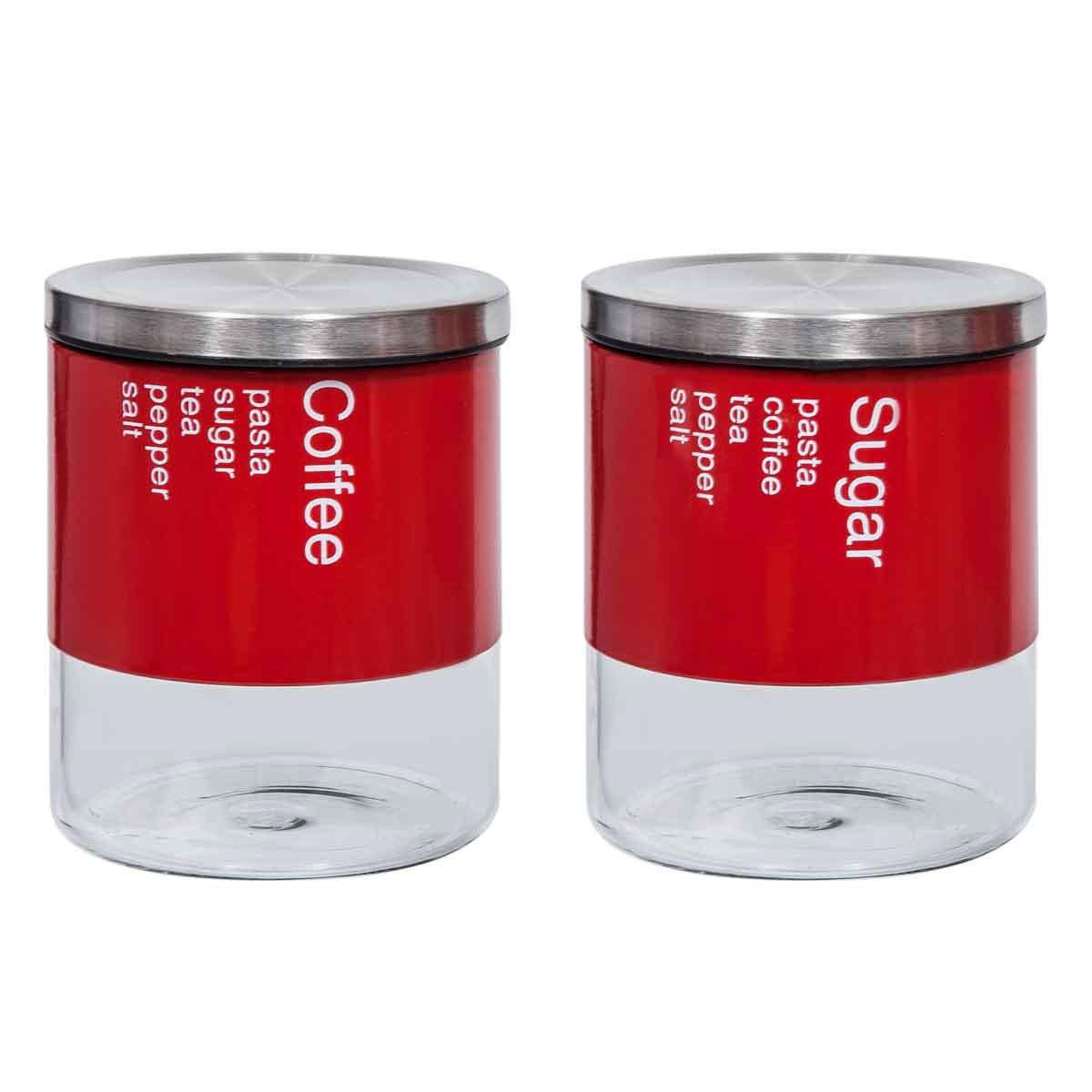Δοχείο Ζάχαρης + Καφέ (Σετ) Marva Country Bolo Red 717014