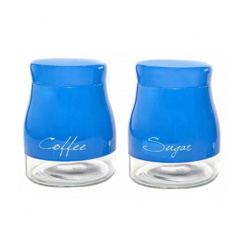 Δοχείο Ζάχαρης + Καφέ (Σετ) Marva Country Urban Blue 717015