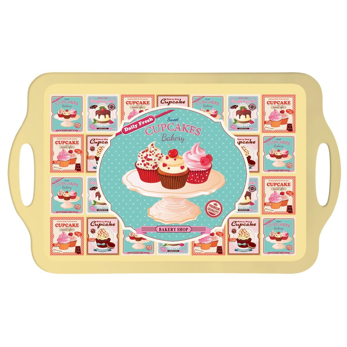 Δίσκος Σερβιρίσματος Marva Cupcakes Pink Large 20800CUΡΡ home   κουζίνα   τραπεζαρία   είδη σερβιρίσματος