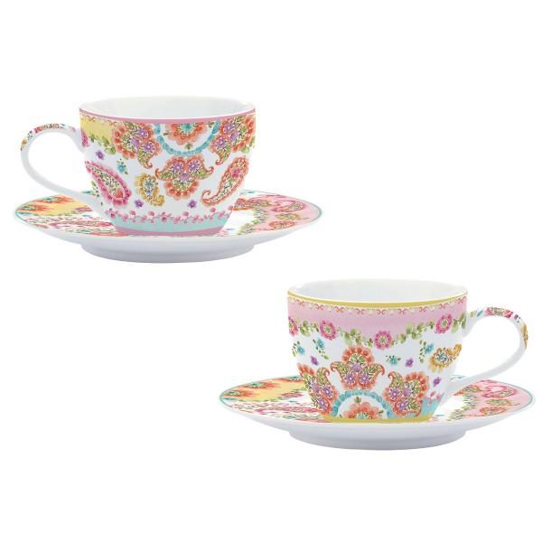 Φλυτζάνια Καφέ + Πιατάκια (Σετ 2τμχ) Marva Gipsy 921GΙΡS