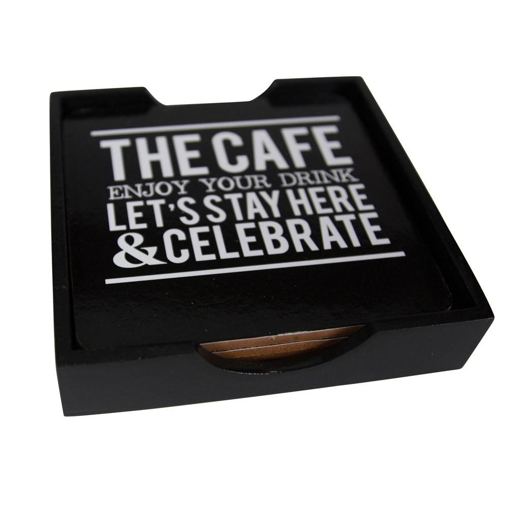 Σουβέρ (Σετ 4τμχ) Marva The Cafe 02274390