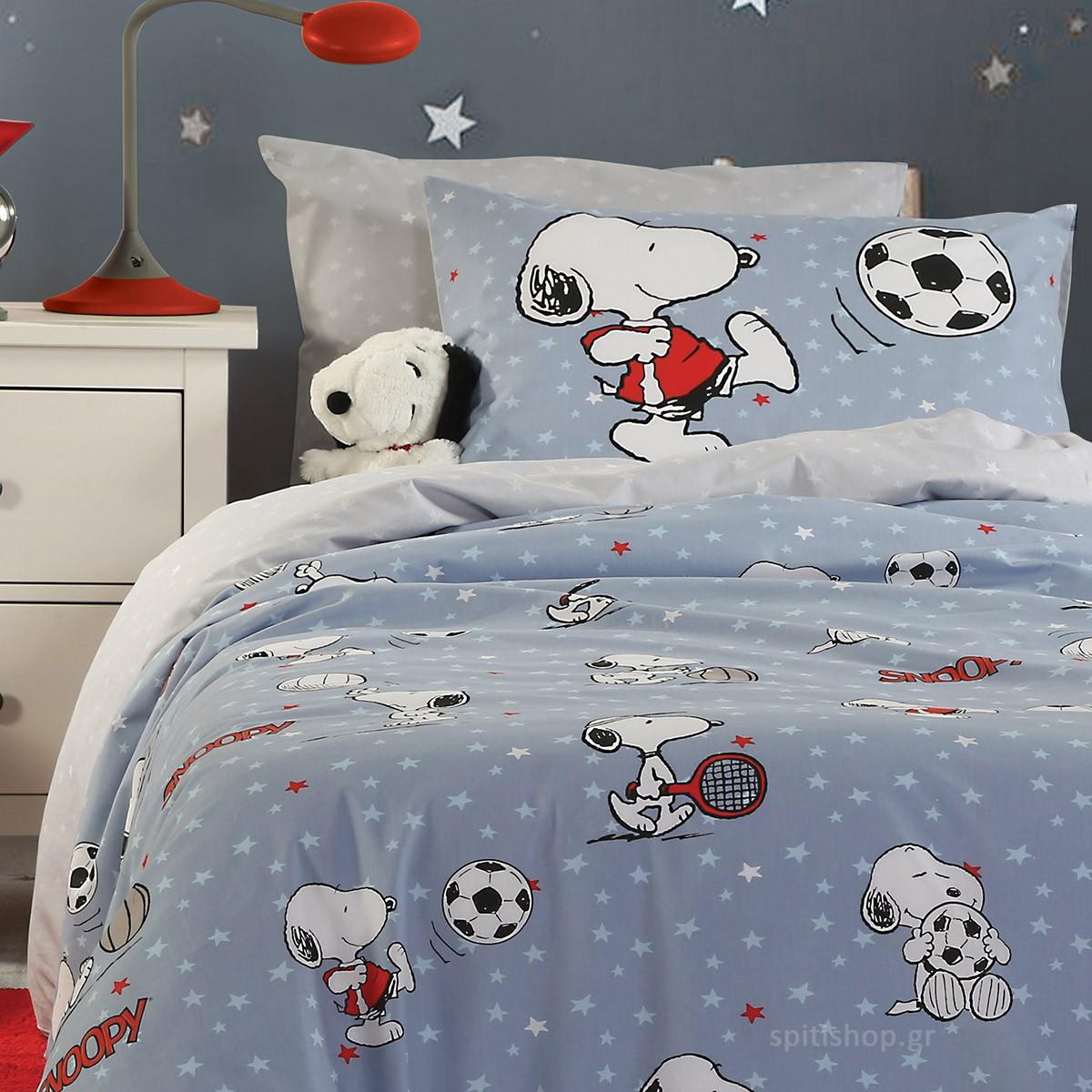 Σεντόνια Μονά (Σετ) Nef-Nef Kids Snoopy Sports