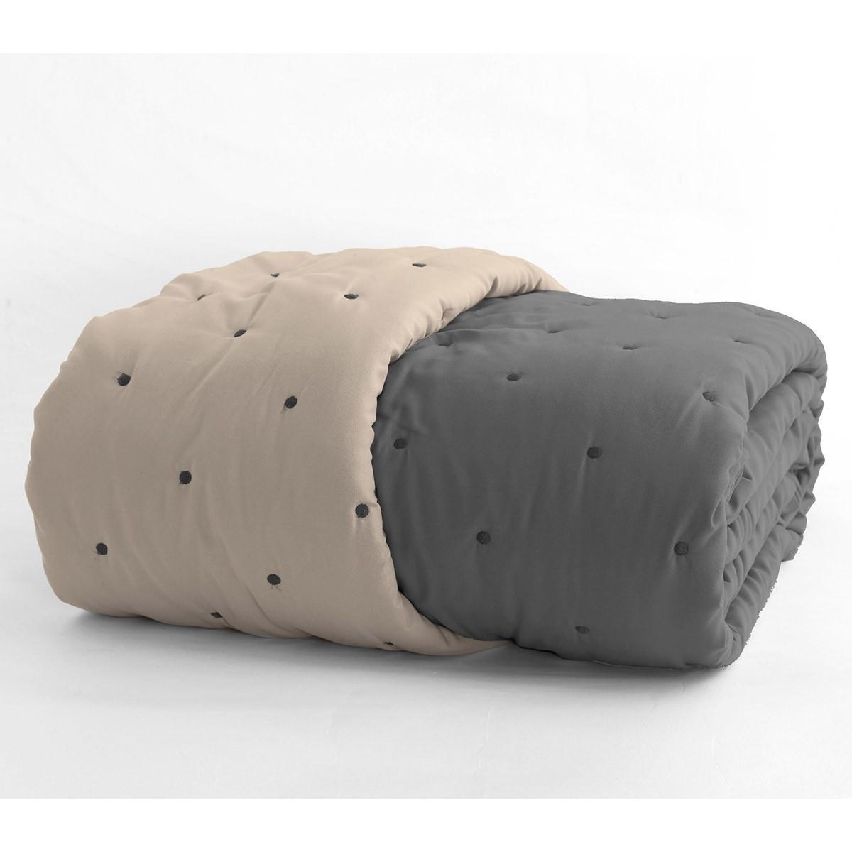 Κουβερλί Μονό 2 Όψεων Nef-Nef B-Color Grey/Beige
