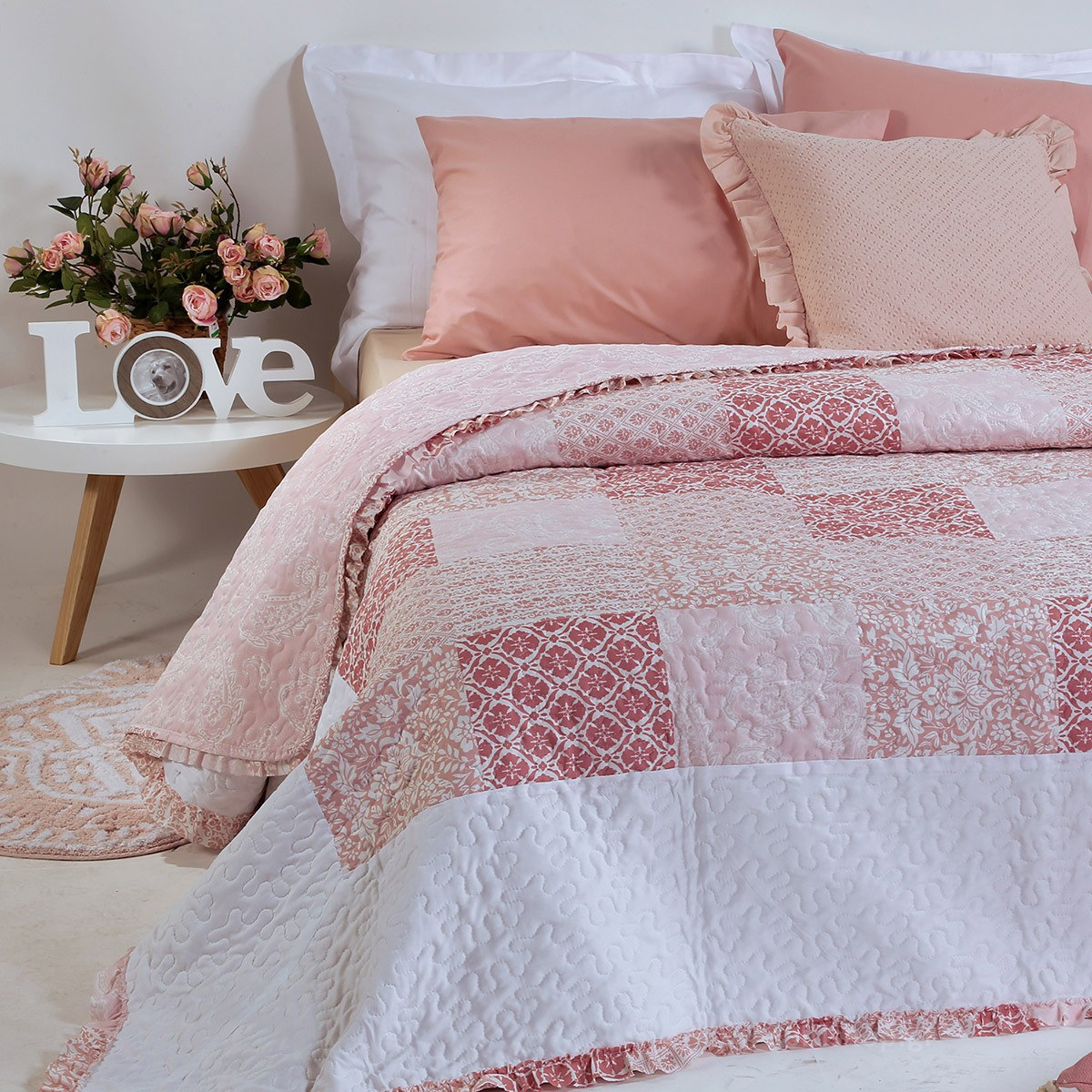 Κουβερλί Μονό Nef-Nef Bergamont Pink 88395