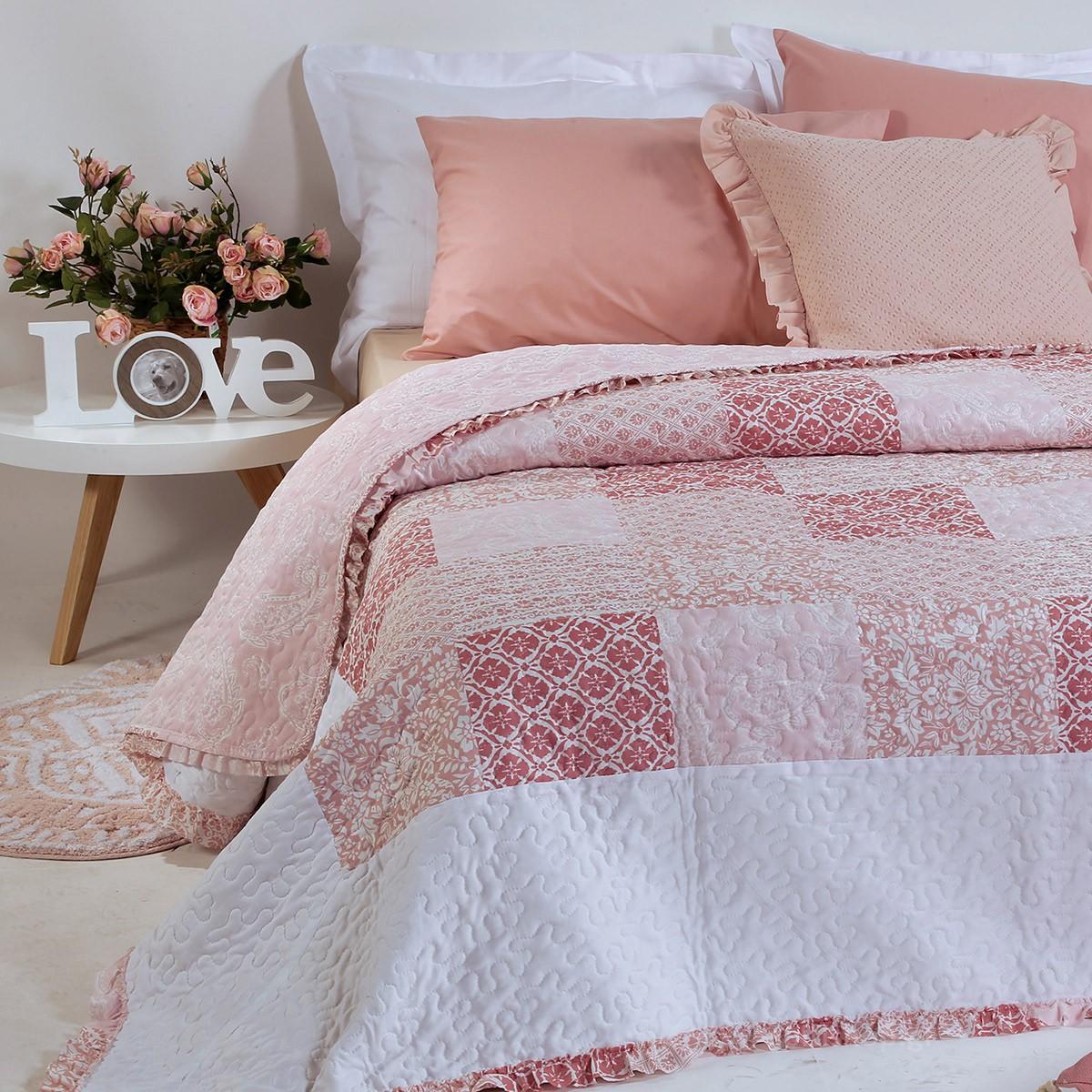 Κουβερλί Υπέρδιπλο Nef-Nef Bergamont Pink