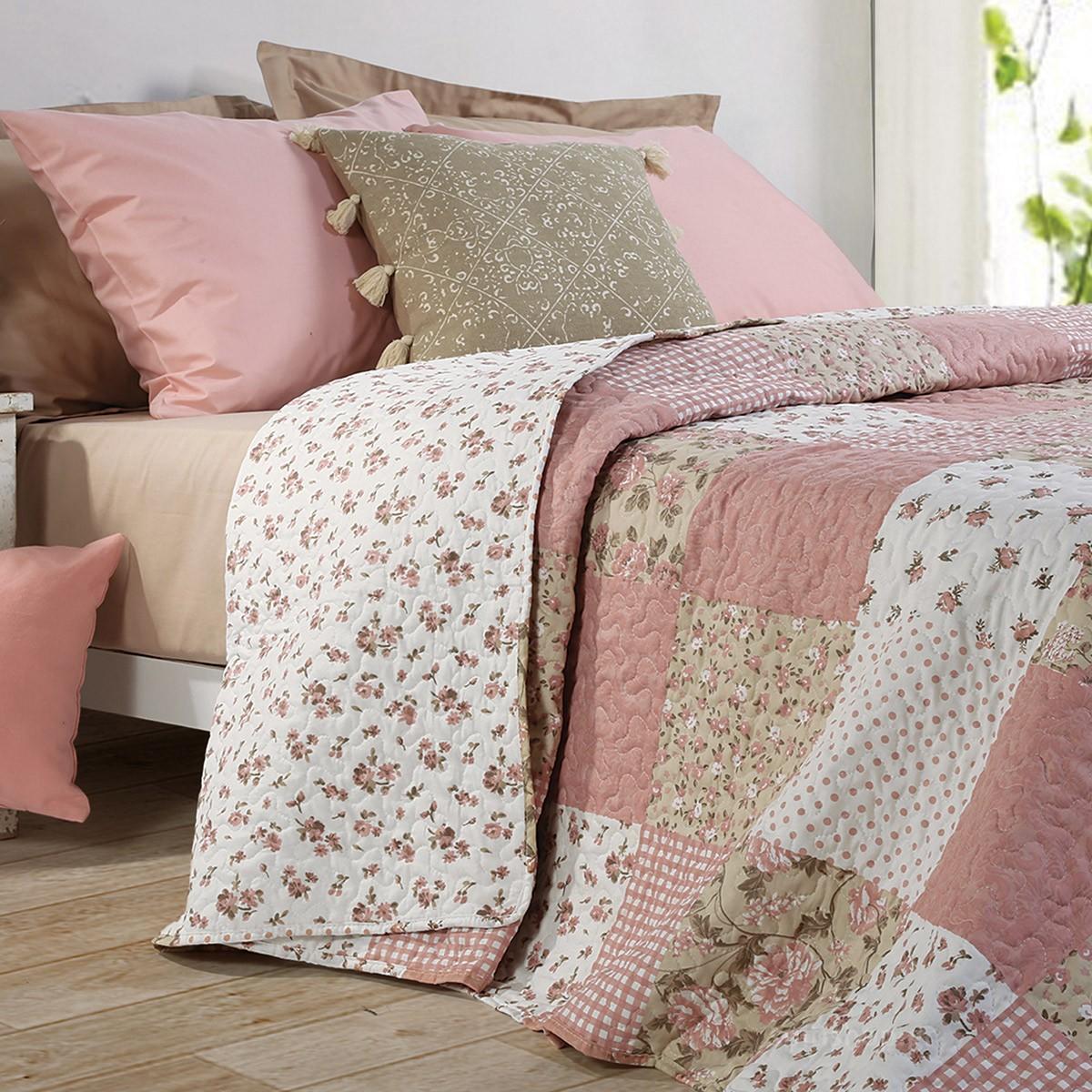Κουβερλί Μονό Nef-Nef Pink Roses 88406