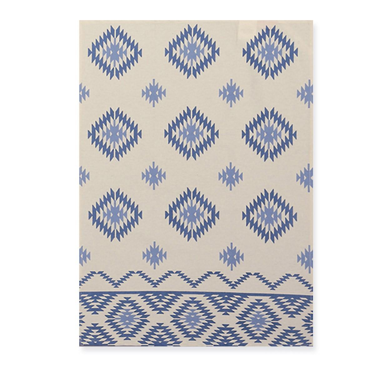Ποτηρόπανο Τυπωτό Nef-Nef Inkas Blue