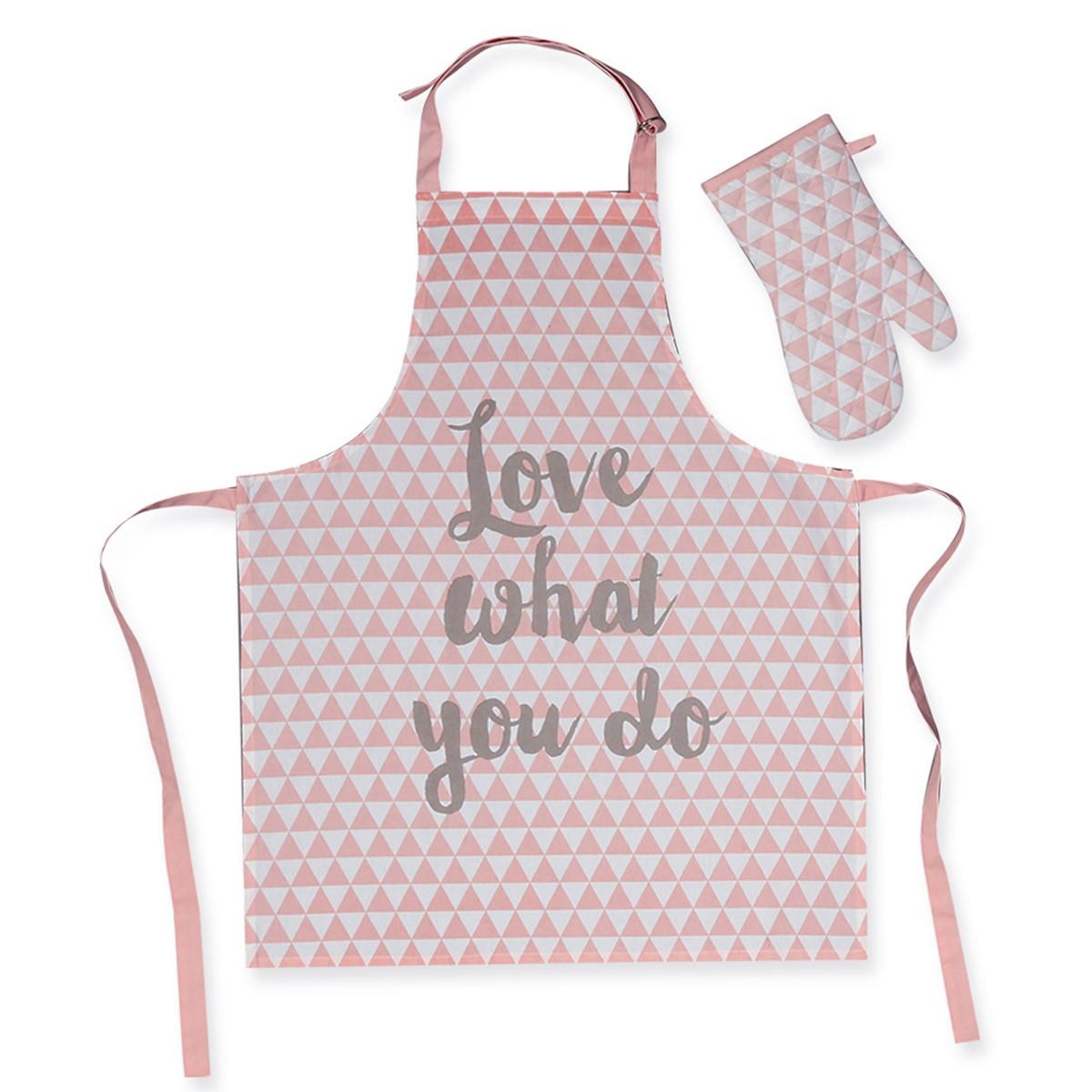 Σετ Κουζίνας 2τμχ Nef-Nef Mood Pink home   κουζίνα   τραπεζαρία   ποδιές   πιάστρες