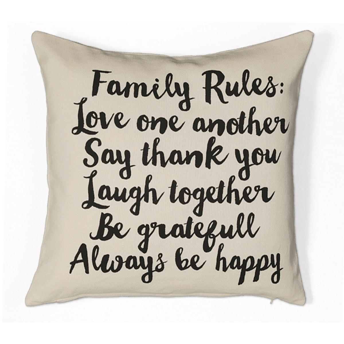 Διακοσμητικό Μαξιλάρι Nef-Nef Family Rules