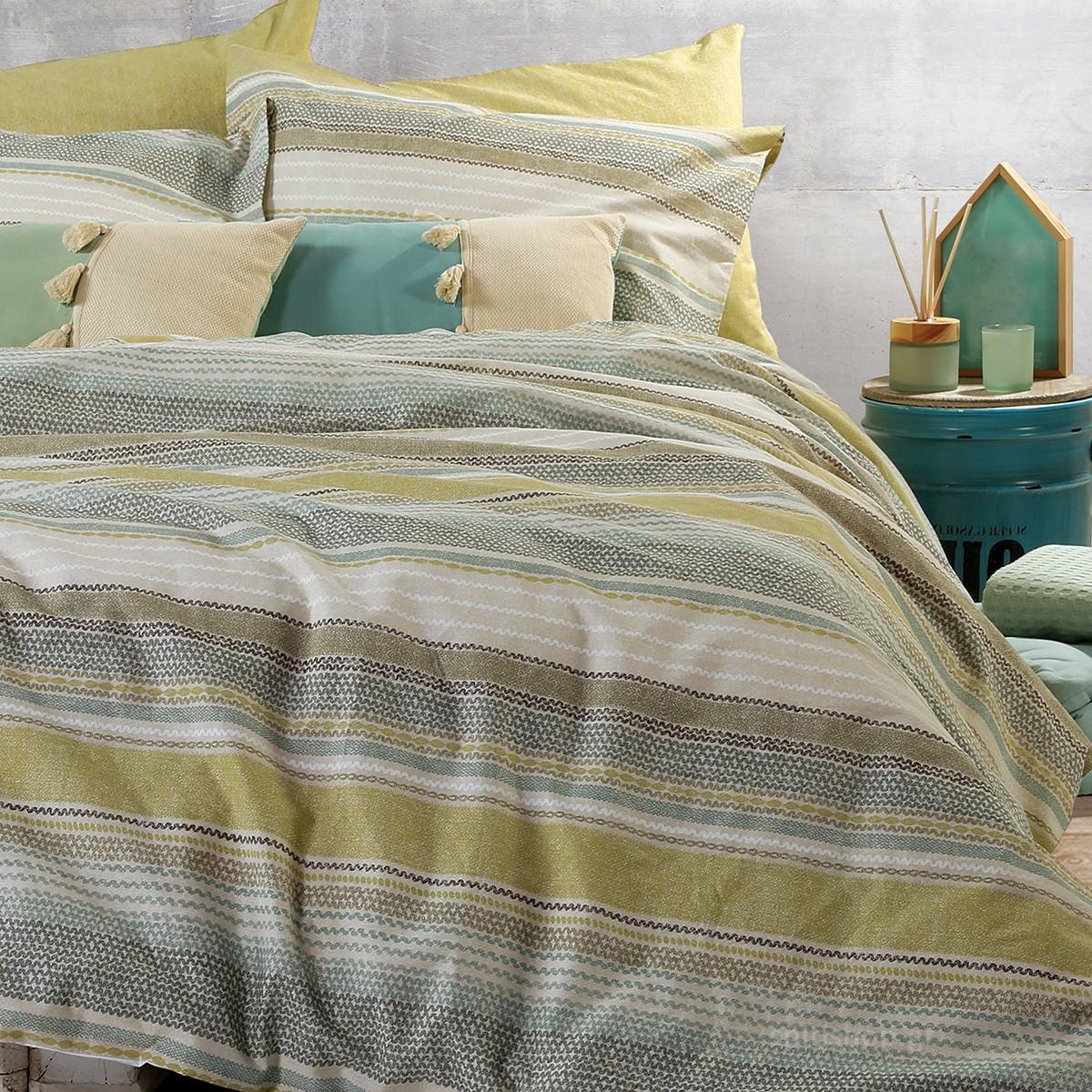 Σεντόνια Υπέρδιπλα (Σετ) Nef-Nef Smart Line Fuente Lime home   κρεβατοκάμαρα   σεντόνια   σεντόνια υπέρδιπλα