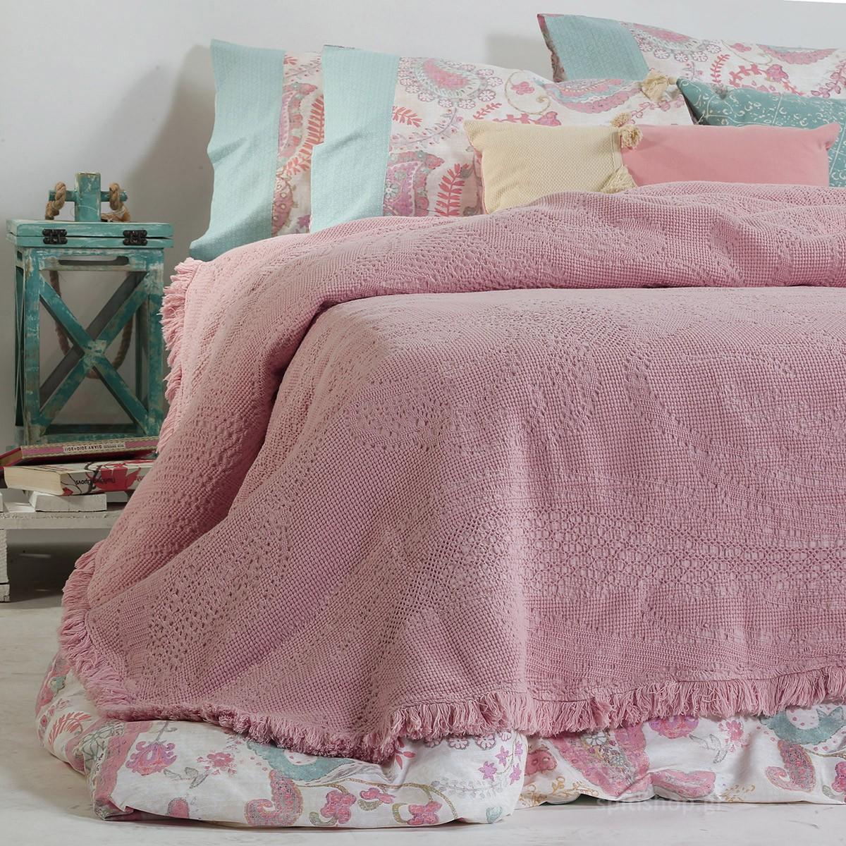 Κουβερτόριο Υπέρδιπλο Nef-Nef Elvira Pink home   κρεβατοκάμαρα   κουβέρτες   κουβέρτες καλοκαιρινές υπέρδιπλες