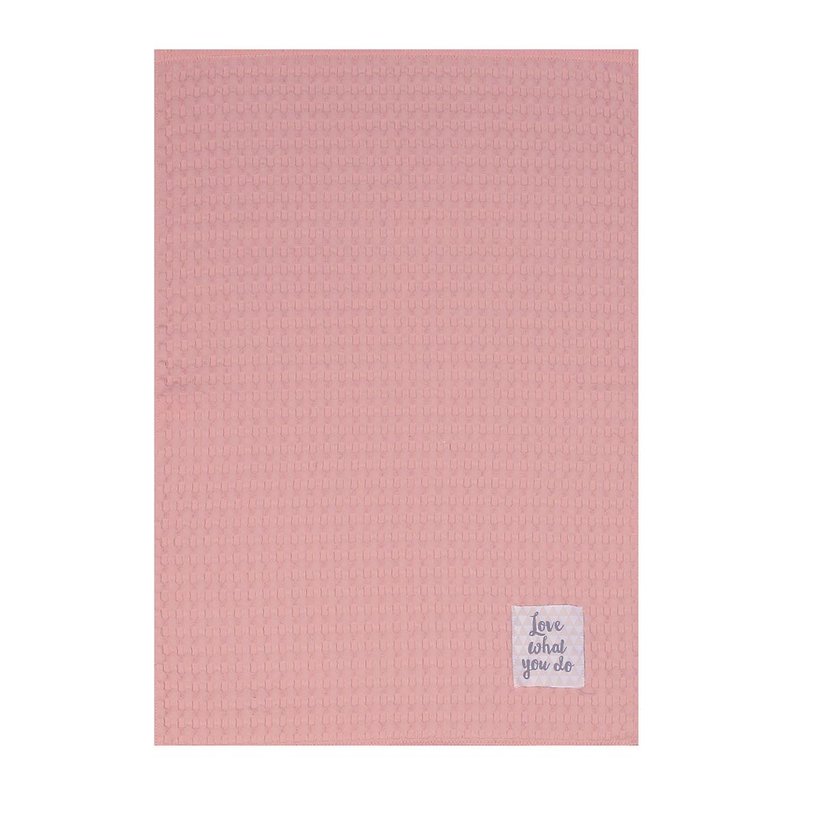 Ποτηρόπανο Πικέ Nef-Nef Mood Pink