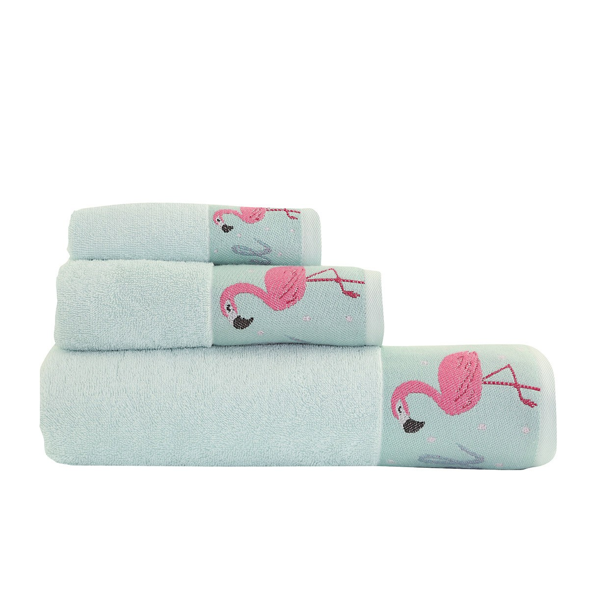 Πετσέτες Μπάνιου (Σετ 3τμχ) Nef-Nef Flamingo 88701