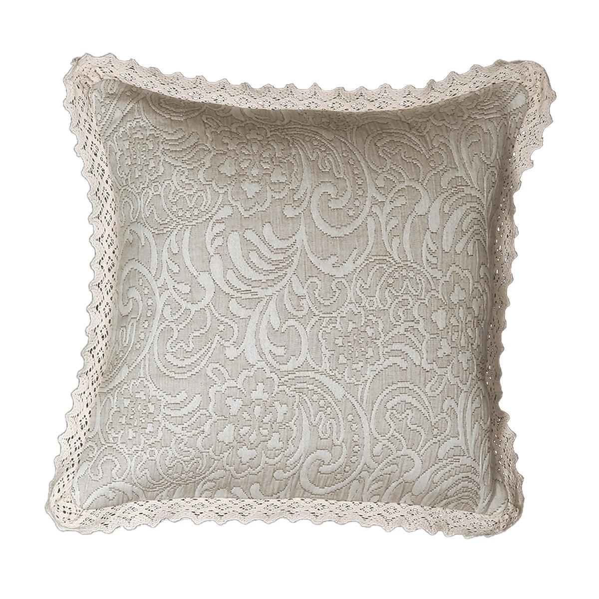 Διακοσμητικό Μαξιλάρι Nef-Nef Elisabeth Beige home   κρεβατοκάμαρα   διακοσμητικά μαξιλάρια