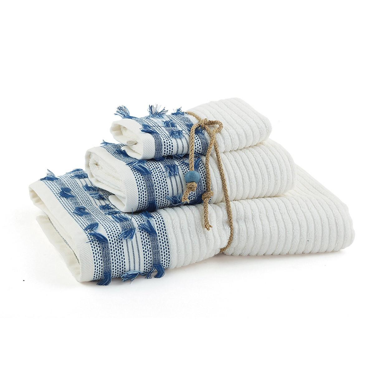 Πετσέτες Μπάνιου (Σετ 3τμχ) Nef-Nef Blue Palina