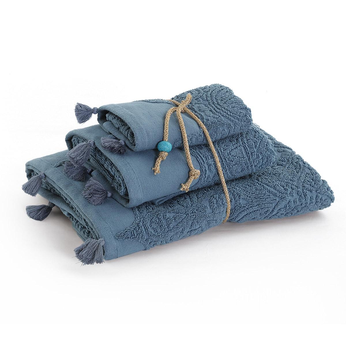 Πετσέτες Μπάνιου (Σετ 3τμχ) Nef-Nef Blue Henna Ble