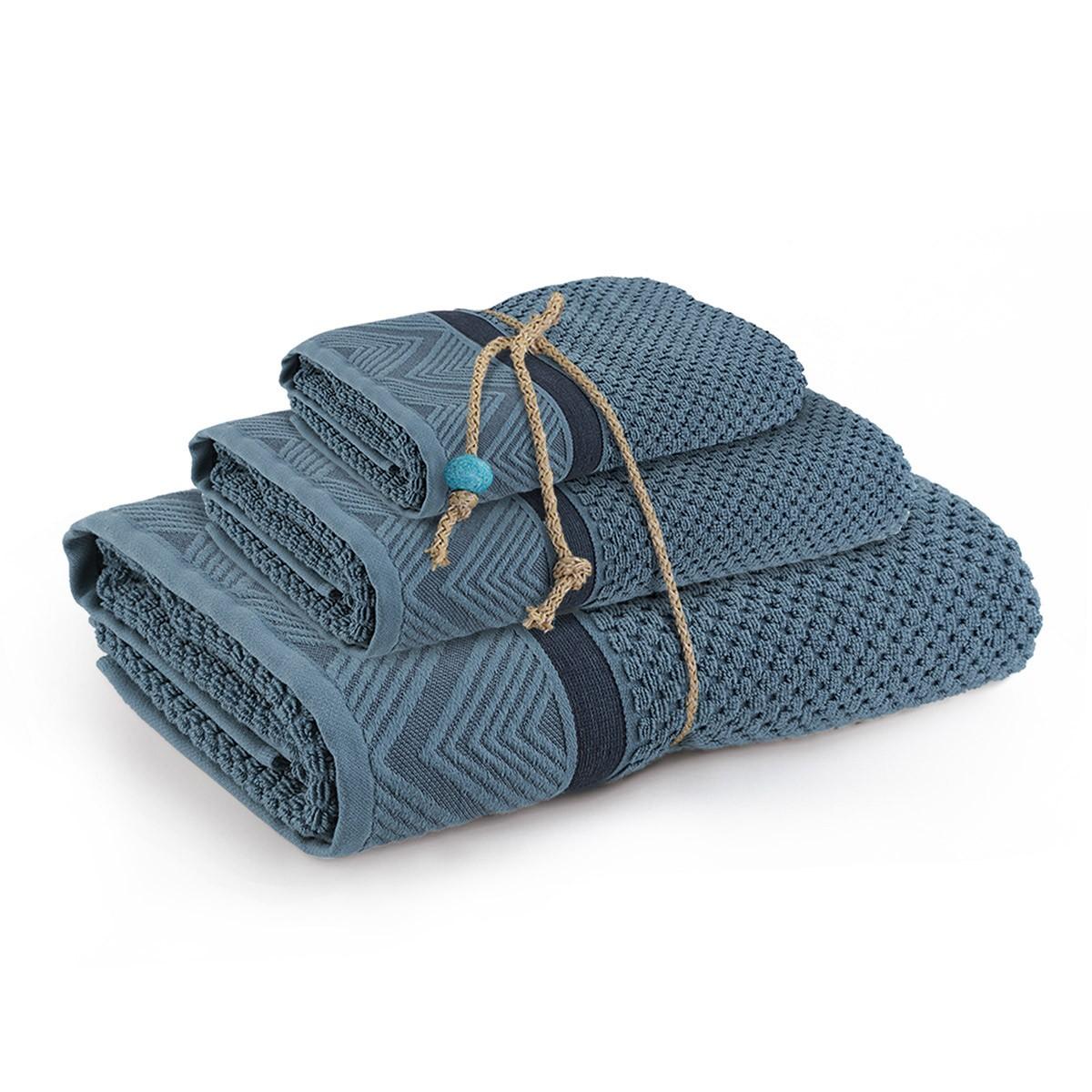 Πετσέτες Μπάνιου (Σετ 3τμχ) Nef-Nef Blue Lucia