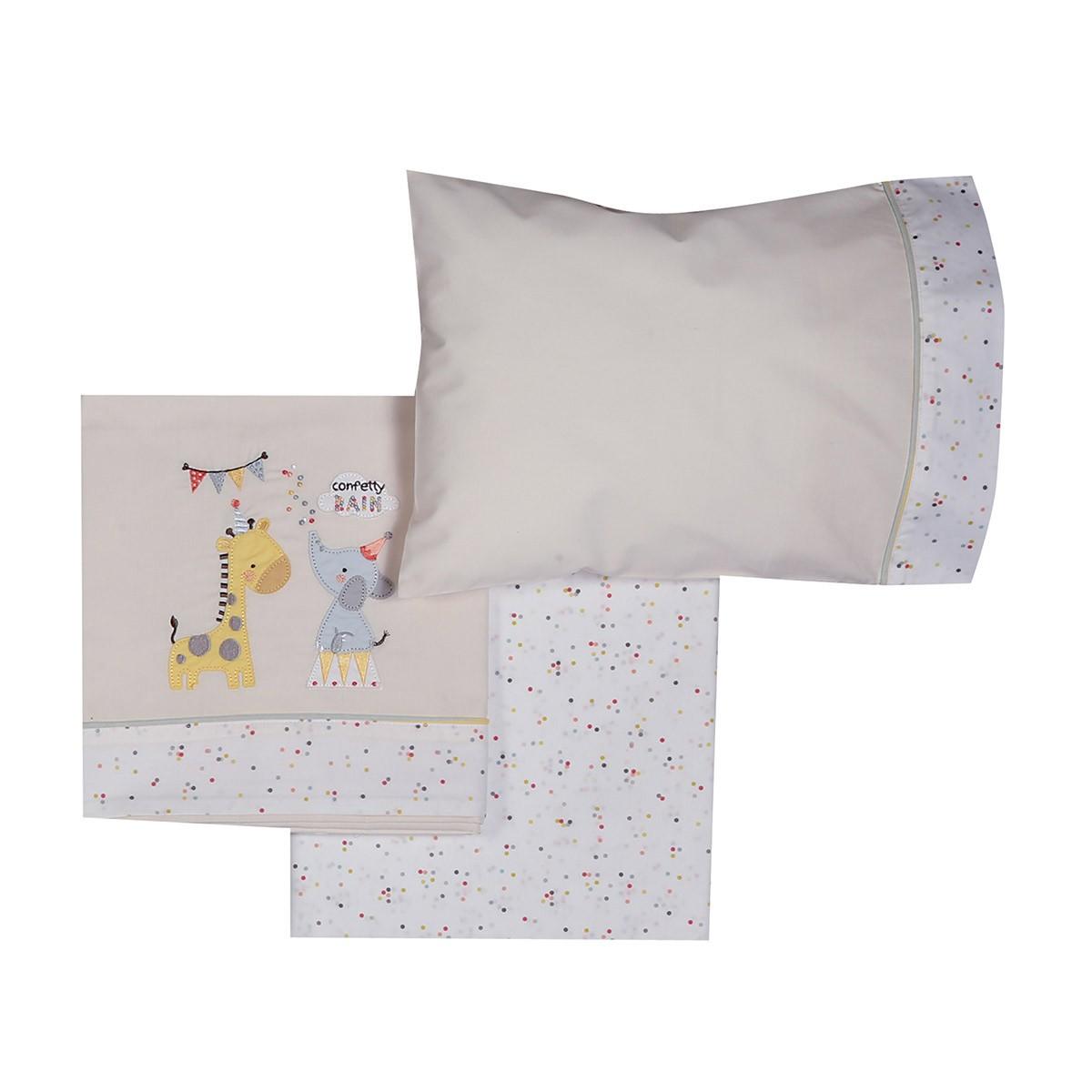 Σεντόνια Κούνιας (Σετ) Nef-Nef Baby Confetti Rain