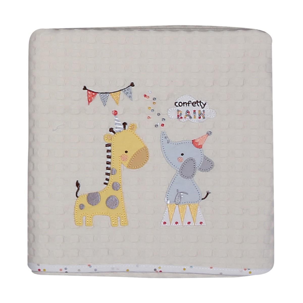 Κουβέρτα Πικέ Κούνιας Nef-Nef Baby Confetti Rain