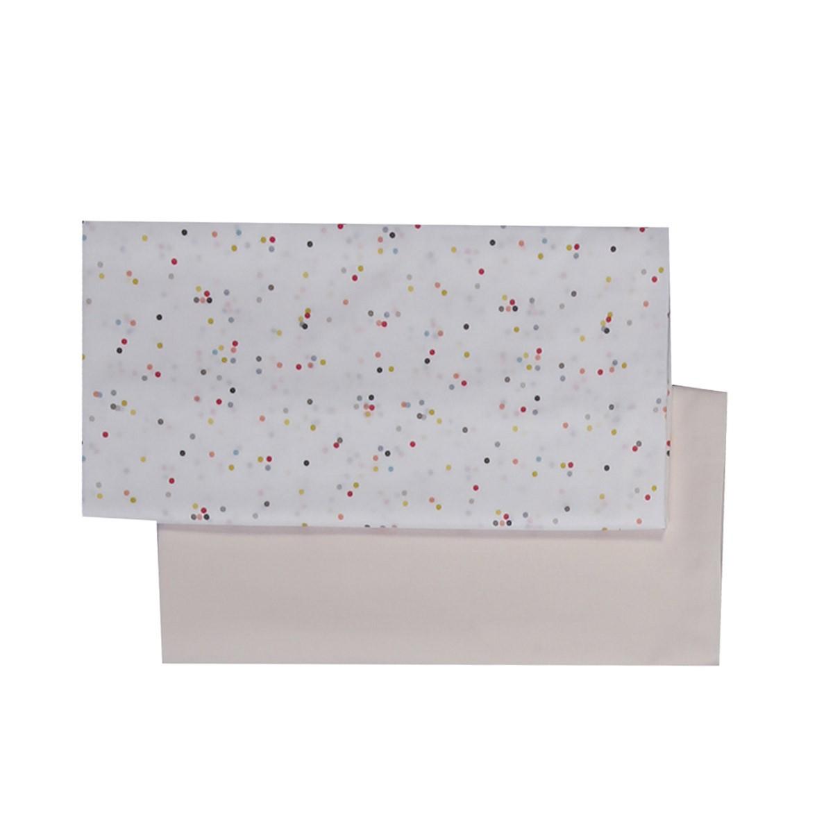Σεντόνια Λίκνου (Σετ) Nef-Nef Baby Confetti Rain