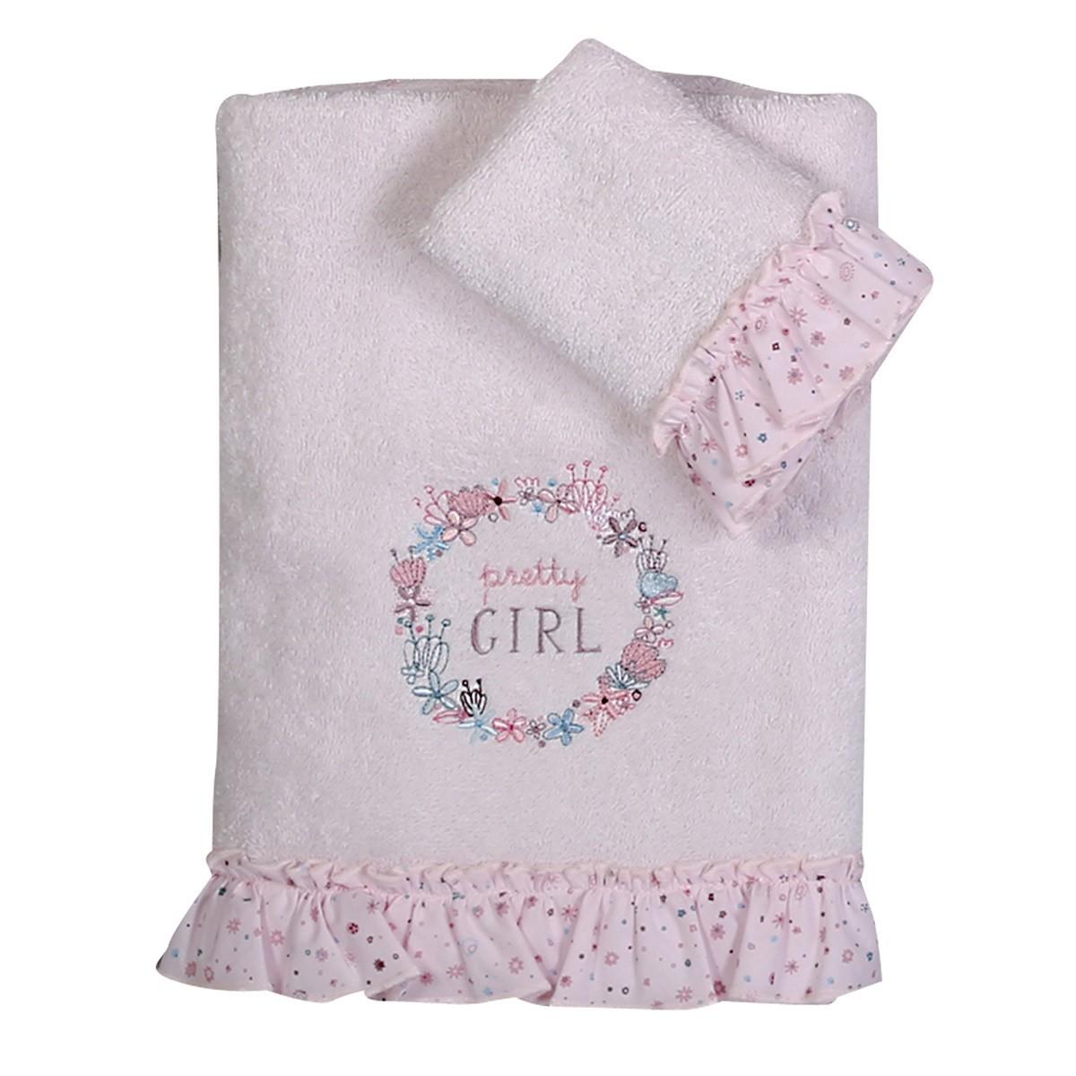 Βρεφικές Πετσέτες (Σετ 2τμχ) Nef-Nef Baby Pretty Girl 88785