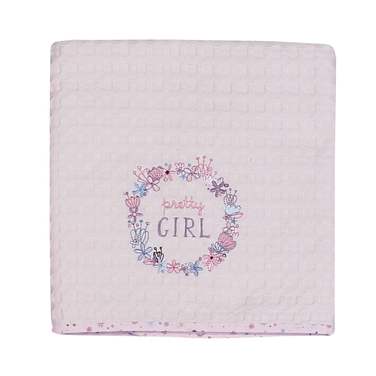 Κουβέρτα Πικέ Αγκαλιάς Nef-Nef Baby Pretty Girl 88787