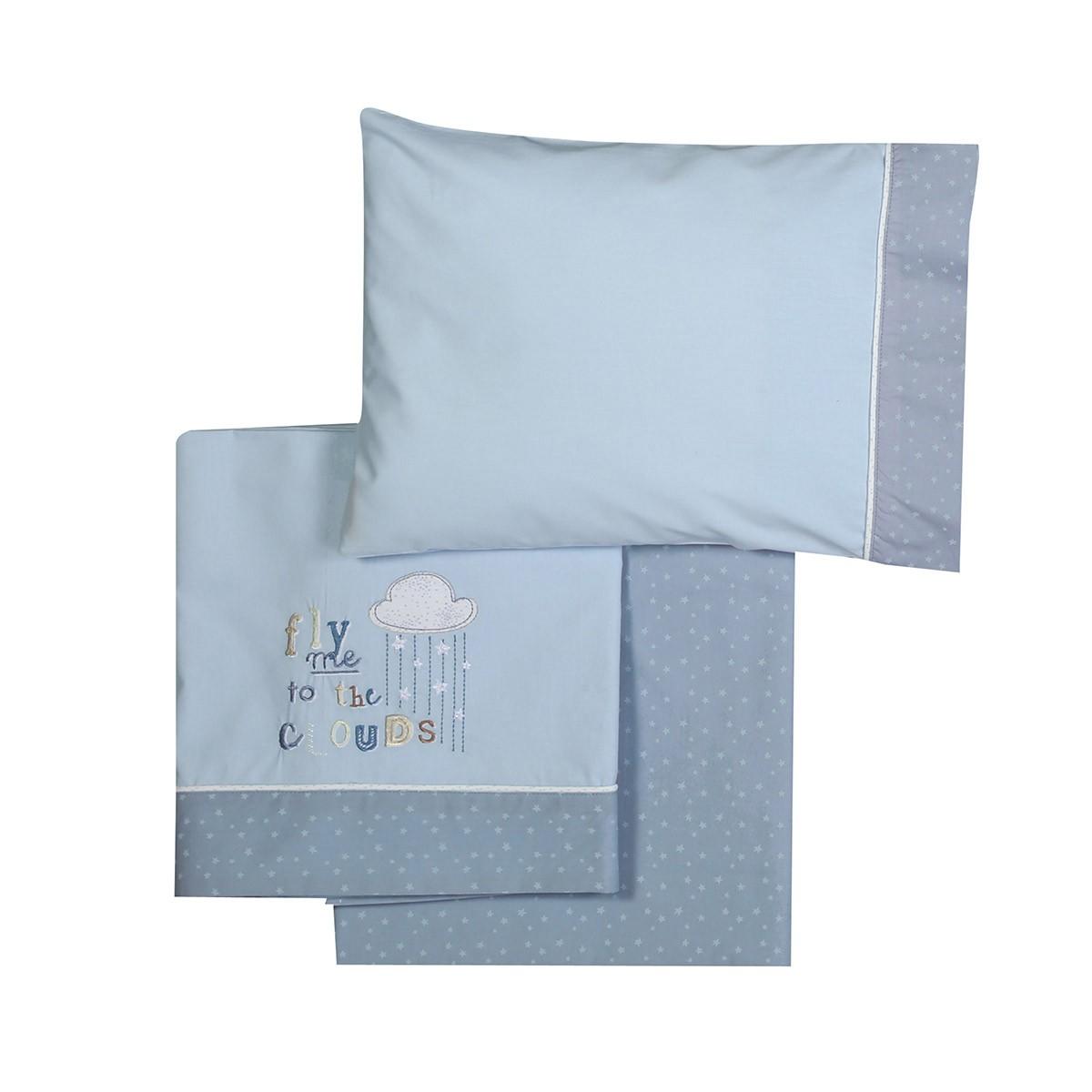 6195343ea5a -50% Spiti Shop Σεντόνια Κούνιας (Σετ) Nef-Nef Baby Clouds