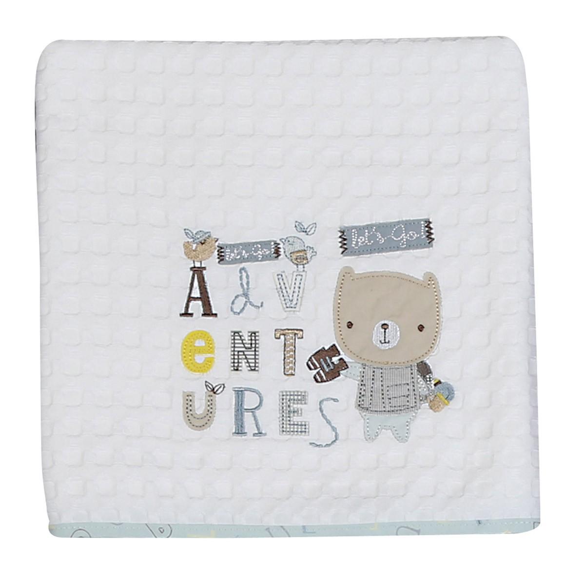 Κουβέρτα Πικέ Κούνιας Nef-Nef Baby Safari