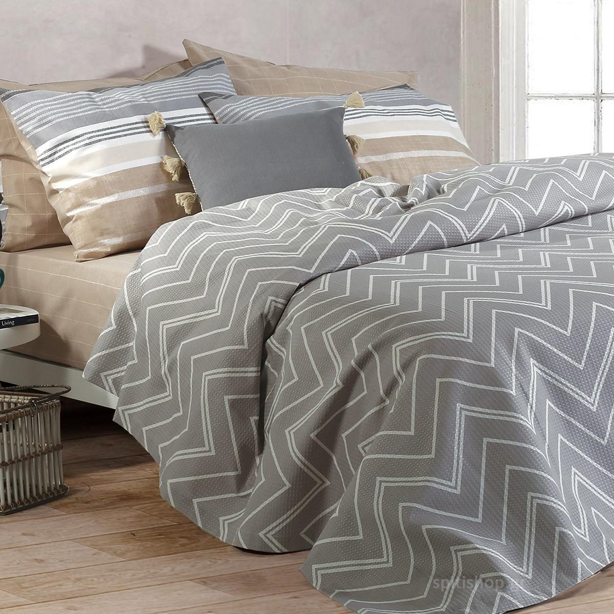 Κουβερτόριο Μονό Nef-Nef Vetta Grey home   κρεβατοκάμαρα   κουβέρτες   κουβέρτες καλοκαιρινές μονές