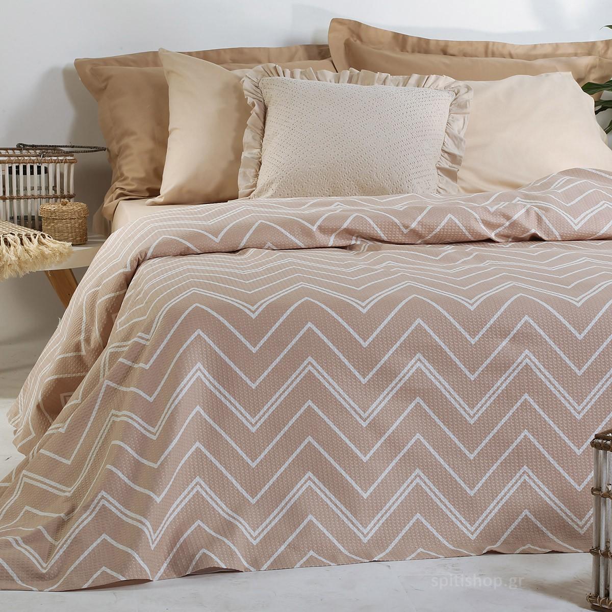 Κουβερτόριο Μονό Nef-Nef Vetta Beige home   κρεβατοκάμαρα   κουβέρτες   κουβέρτες καλοκαιρινές μονές