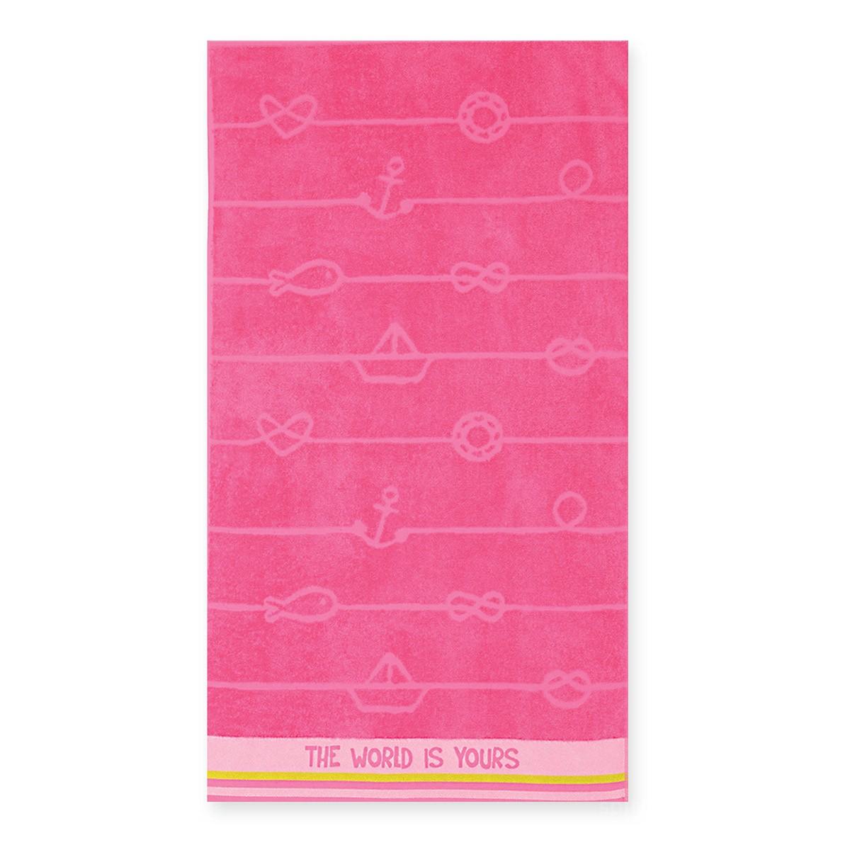 Παιδική Πετσέτα Θαλάσσης Nef-Nef The World Is Yours Fuchsia home   θαλάσσης   πετσέτες θαλάσσης παιδικές