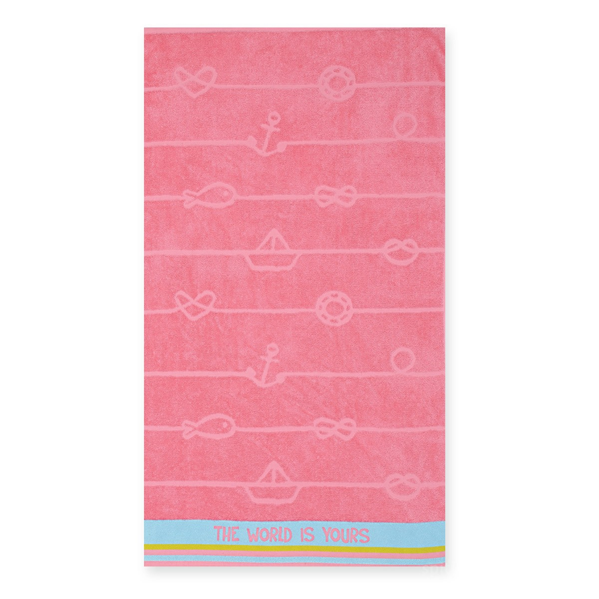 Παιδική Πετσέτα Θαλάσσης Nef-Nef The World Is Yours Pink home   θαλάσσης   πετσέτες θαλάσσης παιδικές
