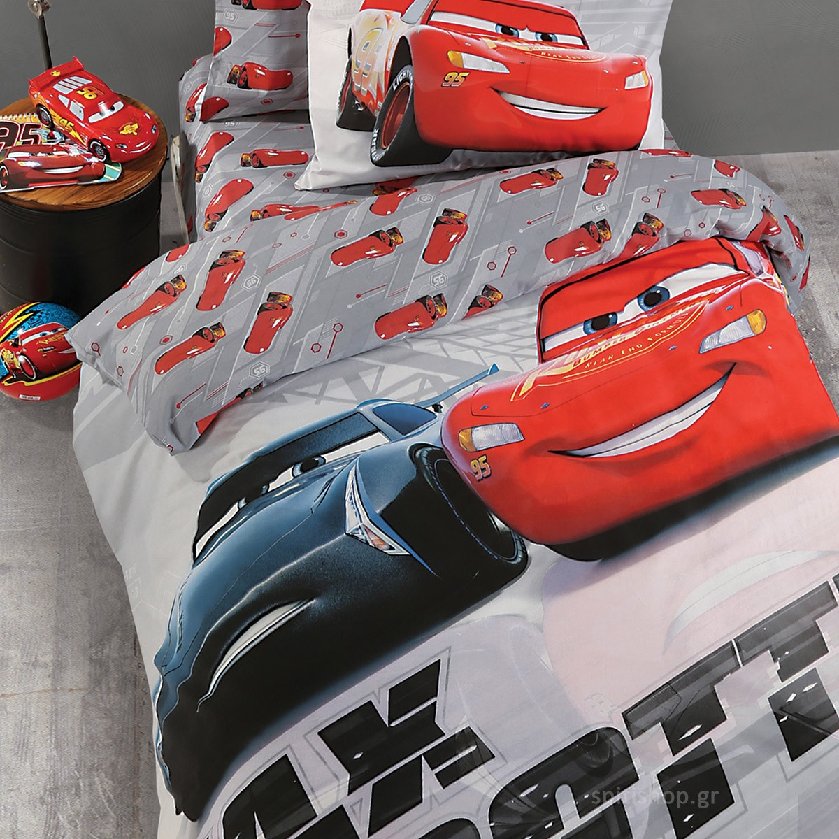 Παπλωματοθήκη Μονή (Σετ) Nef-Nef Disney Cars Max Throttle