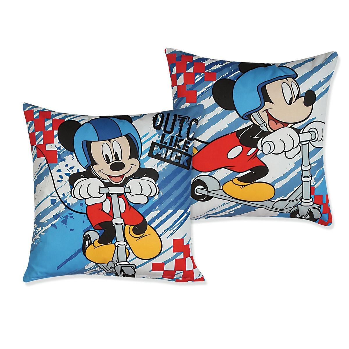 Διακοσμητικό Μαξιλάρι 2 Όψεων Nef-Nef Disney Quick Like Mickey