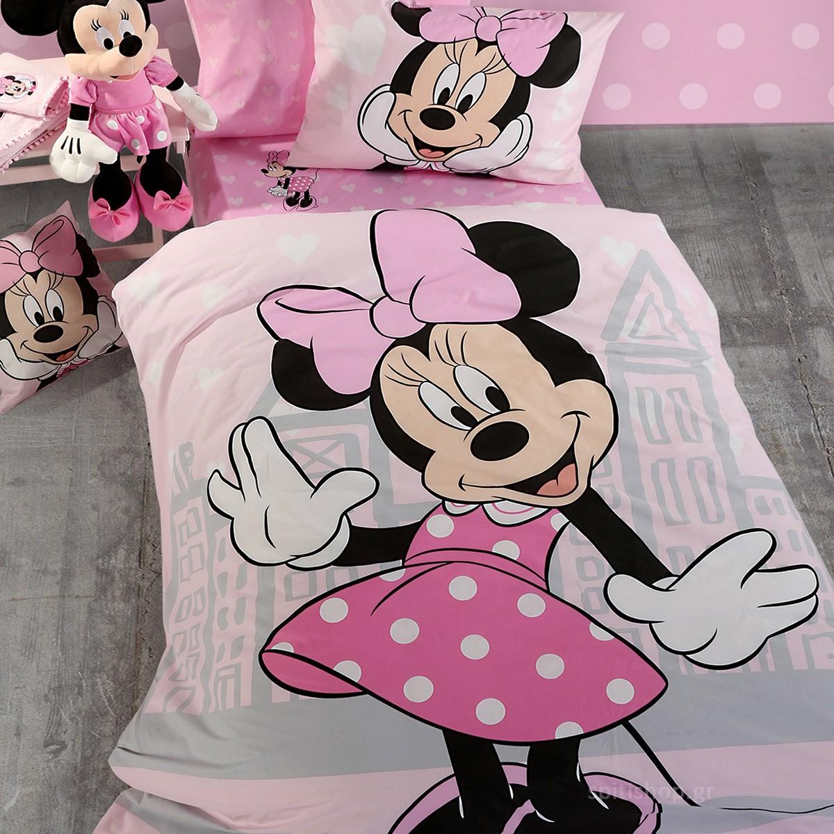 Παπλωματοθήκη Μονή (Σετ) Nef-Nef Disney Minnie Cute
