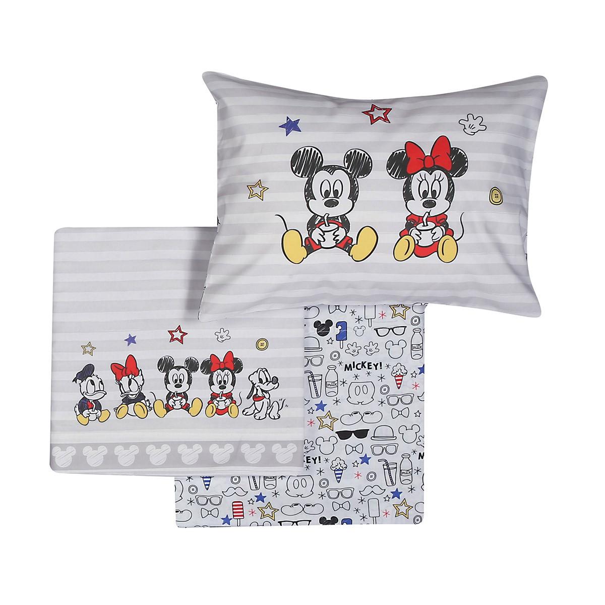 Σεντόνια Κούνιας (Σετ) Nef-Nef Disney Mickey Best Friends