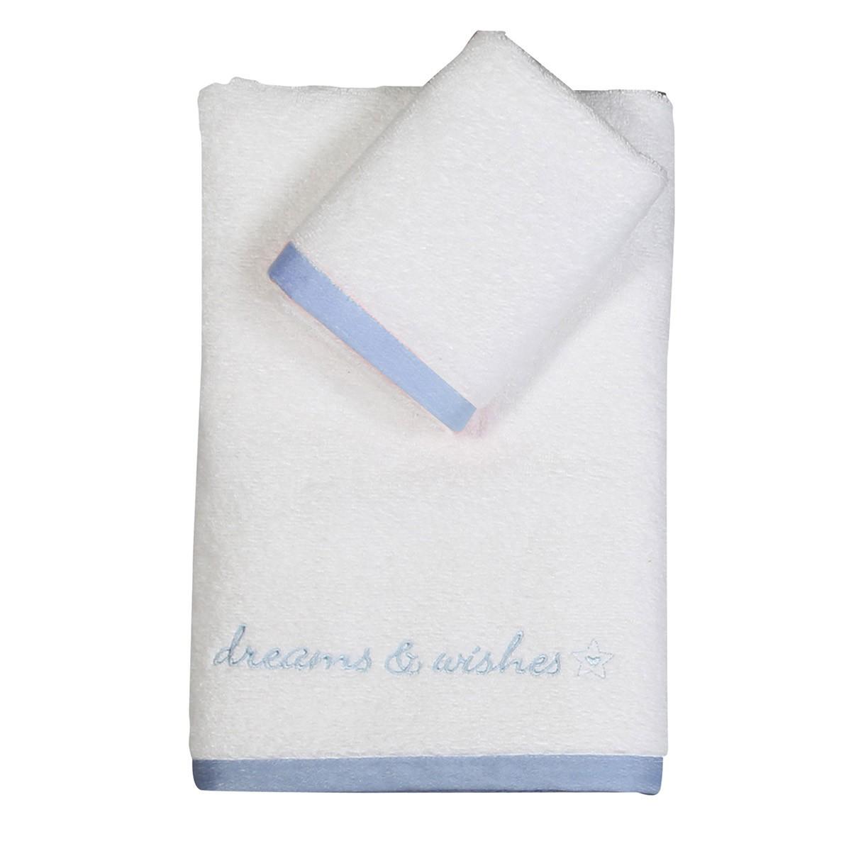 Βρεφικές Πετσέτες (Σετ 2τμχ) Nef-Nef Dreams & Wishes Blue