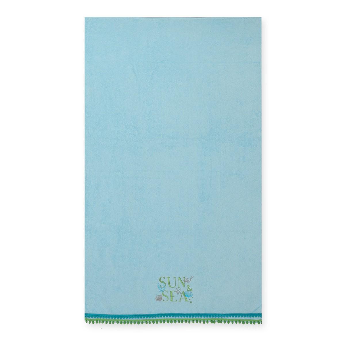 Παιδική Πετσέτα Θαλάσσης Nef-Nef Sun & Sea L.Blue