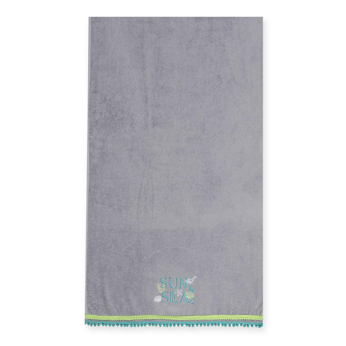 Παιδική Πετσέτα Θαλάσσης Nef-Nef Sun & Sea L.Grey