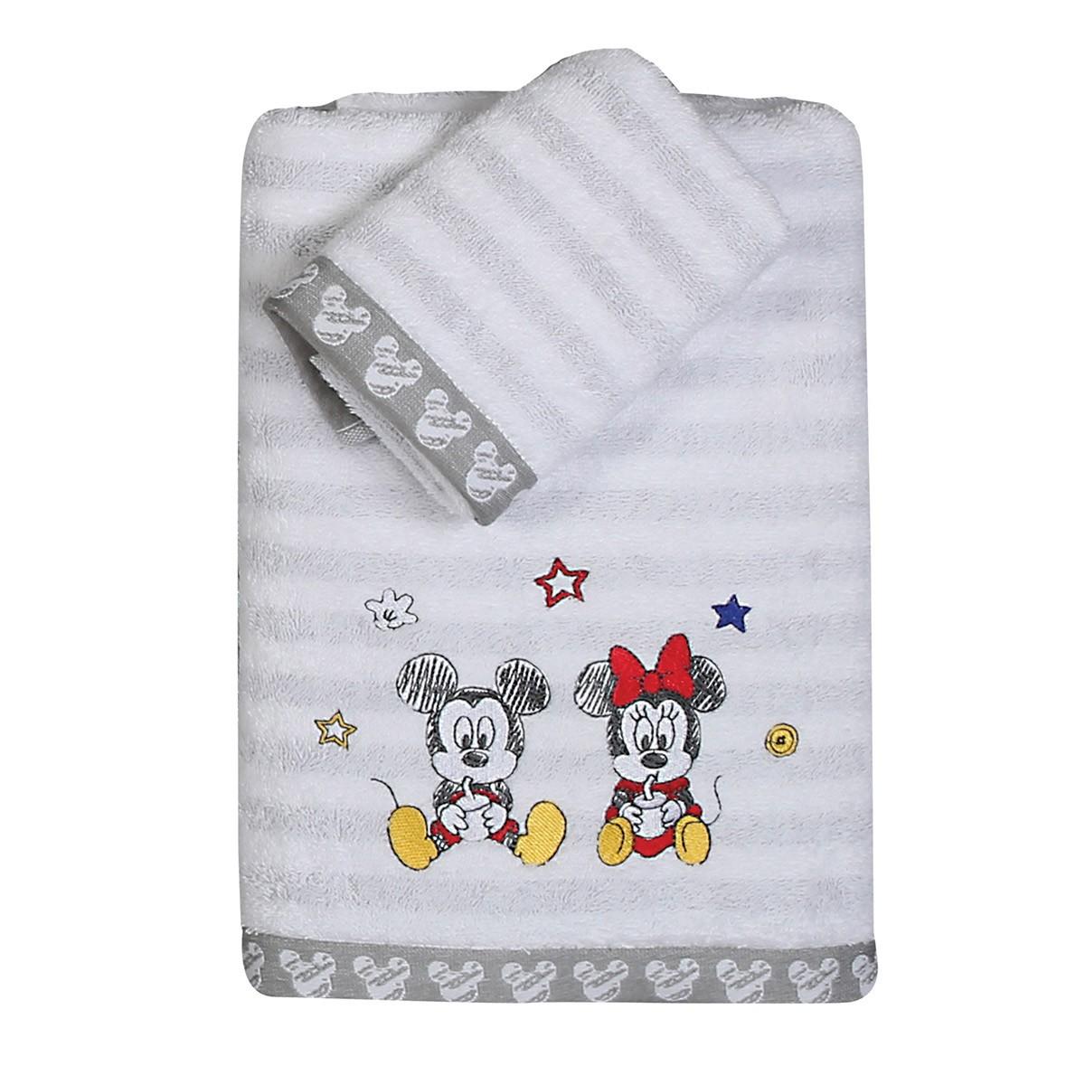 Βρεφικές Πετσέτες (Σετ 2τμχ) Nef-Nef Disney Mickey Best Friends